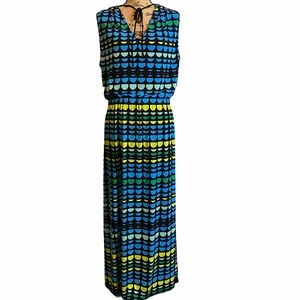 Vince Camuto Colorful Dots Maxi Dress Size 2X